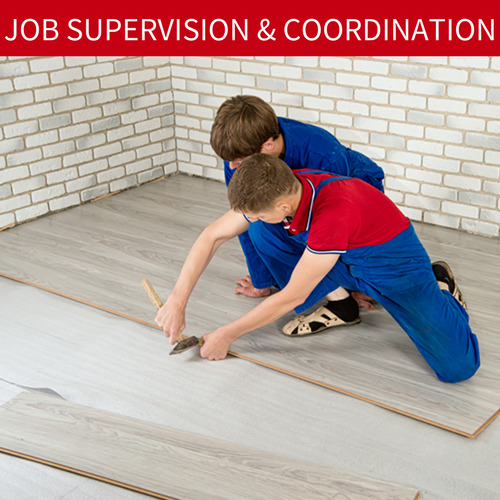 Jims Floor Depot Job supervision and coordination services